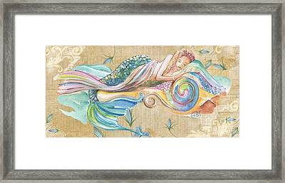 Sleeping Mermaid Framed Print by Sylvia Pimental
