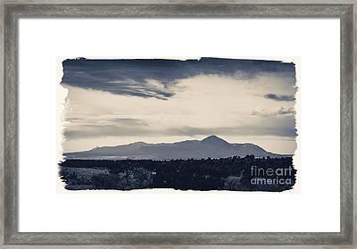 Sleeping Ute Mountain Framed Print by Janice Rae Pariza