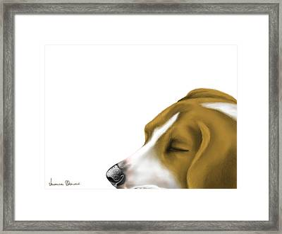 Sleeping Framed Print by Veronica Minozzi