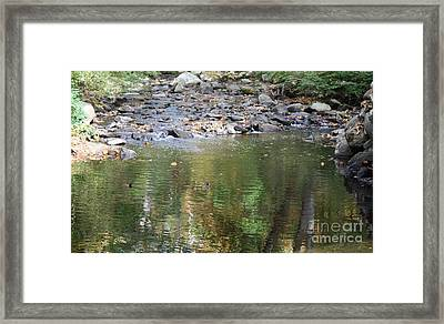Sleepy Hollow Cemetery Stream Framed Print by John Telfer