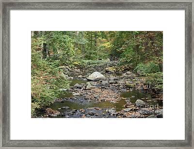 Sleepy Hollow Stream Framed Print by John Telfer