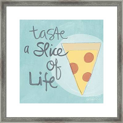 Slice Of Life Framed Print by Linda Woods