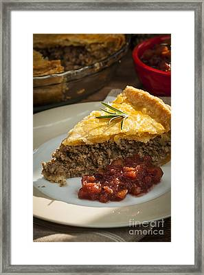 Slice Of Tourtiere Meat Pie  Framed Print by Elena Elisseeva
