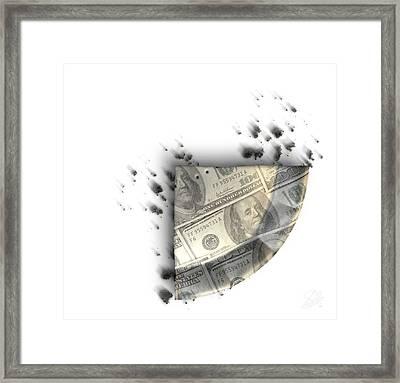 Slice Of Us Dollar Money Pie Framed Print by Allan Swart