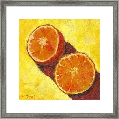 Sliced Grapefruit Framed Print by Marlene Lee