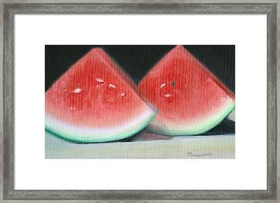 Slices Of Summer Framed Print by Melissa Herrin