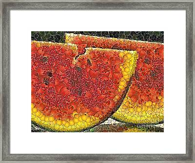 Slices Of Watermelon Framed Print by Dragica  Micki Fortuna
