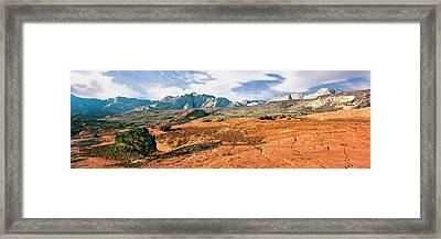 Slickrock, Snow Canyon State Park Framed Print by Panoramic Images
