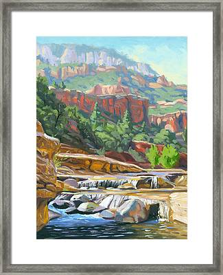 Slide Rock Framed Print by Steve Simon