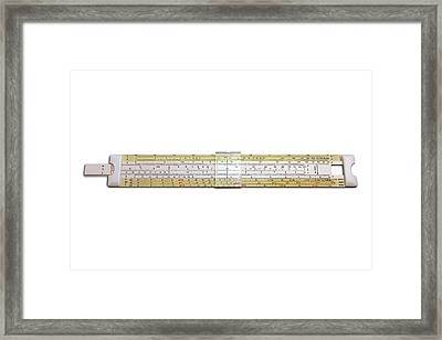 Slide Rule Framed Print by Victor De Schwanberg