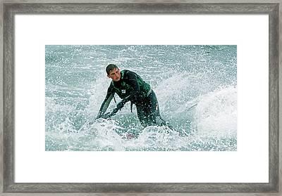 Slider Framed Print by  Waite