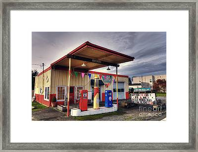Slider's Cafe Framed Print by Eddie Yerkish