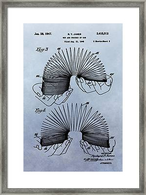 Slinky Patent Framed Print by Dan Sproul