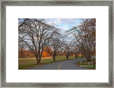 Sloan Park Sunset Framed Print by Adam Jewell