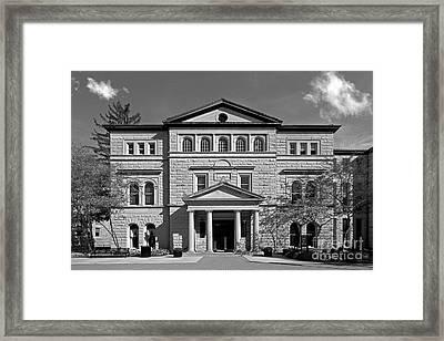 Slocum Library Ohio Wesleyan University Framed Print by University Icons