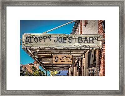 Sloppy Joe's Bar Canopy Key West - Hdr Style Framed Print by Ian Monk