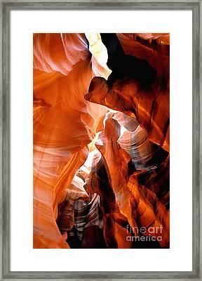 Slot Canyon Abstract 6 Framed Print by Linda  Parker