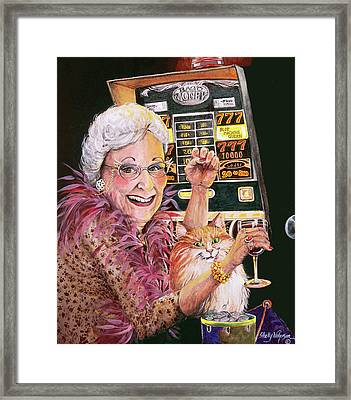 Slot Machine Queen Framed Print by Shelly Wilkerson