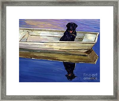 Slow Boat Framed Print by Molly Poole