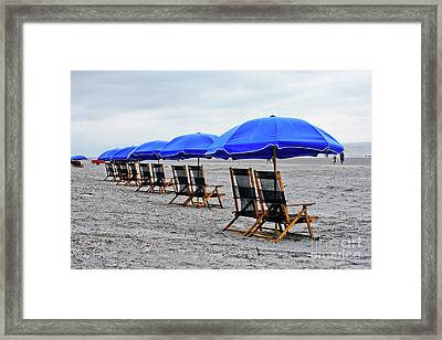 Slow Day At The  Beach Framed Print by Thomas Marchessault