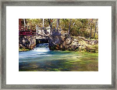 Sluice Gate At Alley Spring Framed Print by Marty Koch