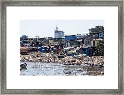 Slum In Colaba Framed Print by Mark Williamson