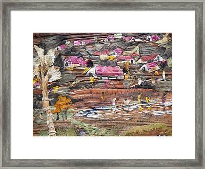 Slum On Hill  Framed Print by Basant Soni