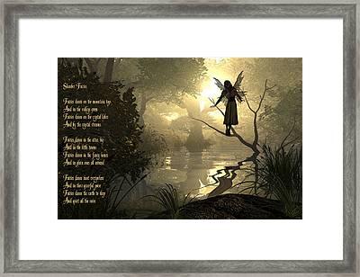 Slumber Fairies Framed Print by Randi Kuhne