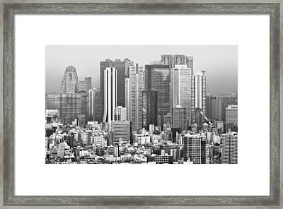 Small And Tall Tokyo Japan Framed Print by Clive Eariss