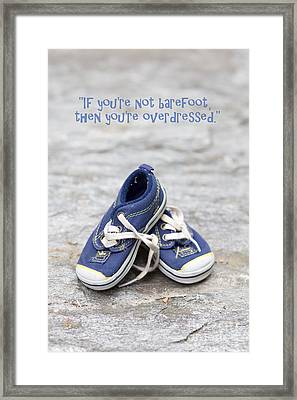 Small Blue Sneakers Framed Print by Edward Fielding