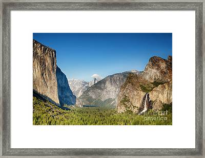 Small Clouds Over The Half Dome Framed Print by Jane Rix