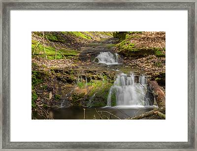Small Falls At Parfrey's Glen Framed Print by Jonah  Anderson