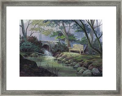 Small Falls Descanso Framed Print by Michael Humphries