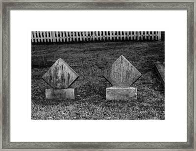 Small Markers Framed Print by Robert Hebert