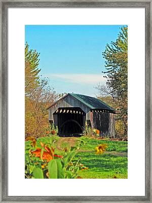 Small Private Country Bridge Framed Print by Barbara McDevitt