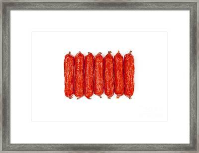 Small Smoked Sausages Framed Print by Aleksey Tugolukov
