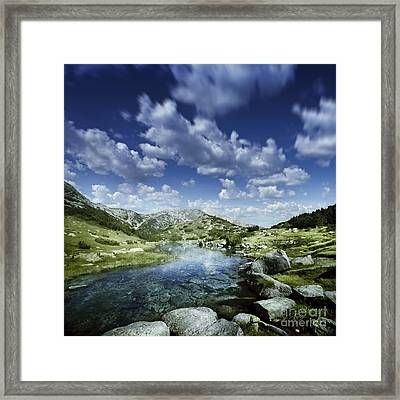 Small Stream In The Mountains Of Pirin Framed Print by Evgeny Kuklev