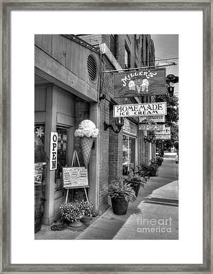 Small Town America 2 Bw Framed Print by Mel Steinhauer