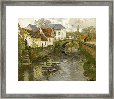 Small Town Near La Panne Framed Print by Frits Thaulow