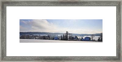 Small Village Framed Print by Aged Pixel