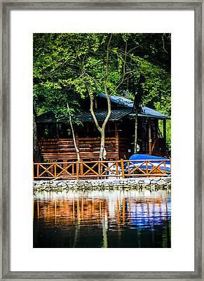 Small Wooden House Framed Print by Sotiris Filippou