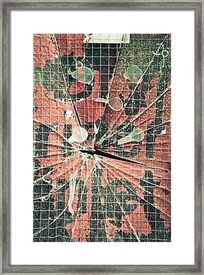 Smashed Glass Framed Print by Tom Gowanlock