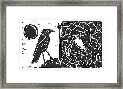 Smaug And The Thrush Framed Print by Lynn-Marie Gildersleeve