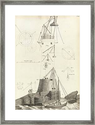 Smeaton's Tower Framed Print by Royal Institution Of Great Britain