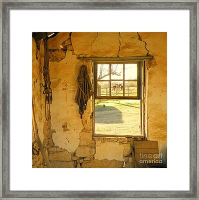 Smell Of Hay Framed Print by Joe Jake Pratt