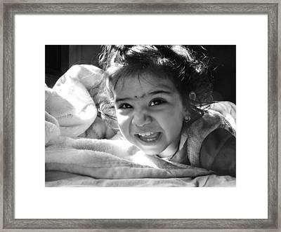 Smile Framed Print by Makarand Purohit
