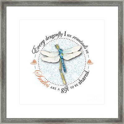 Smiles Are A Gift To Be Shared Framed Print by Amy Kirkpatrick