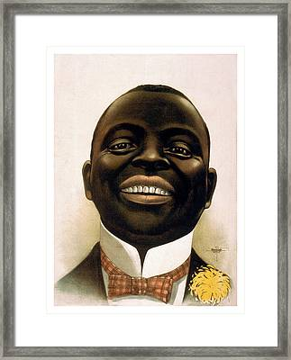 Smiling African American Circa 1900 Framed Print by Aged Pixel