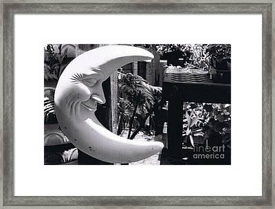 Smiling Moon Framed Print by Nina Sloan