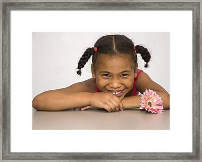 Smiling Pretty Framed Print by Carolyn Marshall